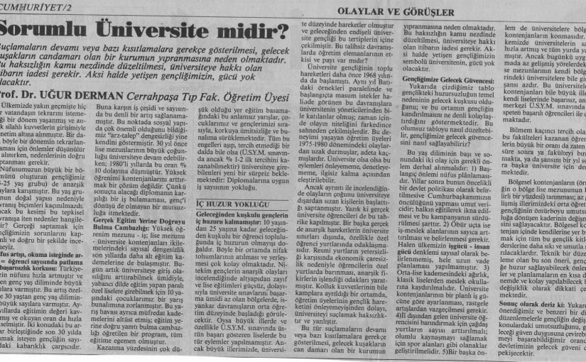 Sorumlu Üniversite midir?